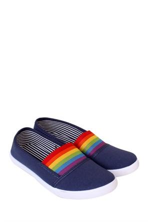 Altınbaş Ayakkabı Kot Lastikli Keten Zenne Ayakkabı - 18804