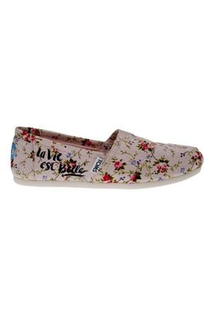 Toms 10007564 Blush Textile Floral Wm Kadın Günlük Ayakkabı