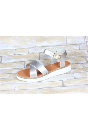 By Puix 254-1100 Lame Kadın Sandalet