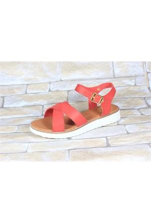 By Puix 254-1100 Kırmızı Kadın Sandalet