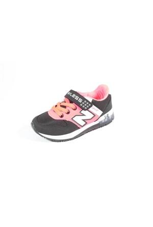 Wyless 259-976 Siyah Pembe Çocuk Ayakkabı