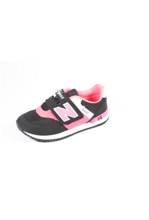 Wyless 259-975 Siyah Fuşya Çocuk Ayakkabı