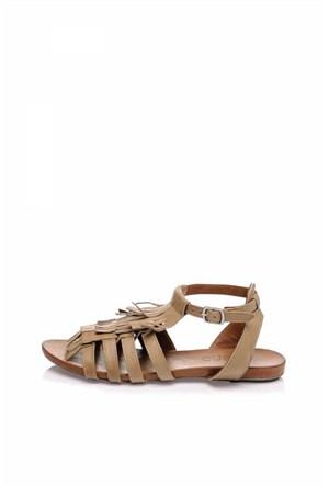 Bueno Vizon Püsküllü Kadın Sandalet