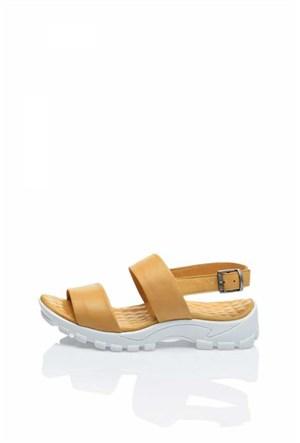 Bueno Sarı Rahat Tokalı Kadın Sandalet