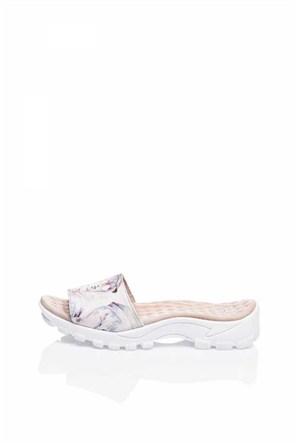 Bueno Pudra Baskılı Deri Kadın Sandalet