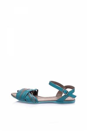 Bueno Saks Şeritli Deri Düz Kadın Sandalet