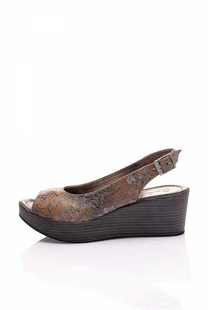 Bueno Açık Kahverengi Dolgu Topuk Ayakkabı
