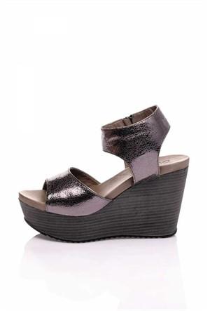 Bueno Gümüş Dolgu Topuk Kadın Ayakkabı