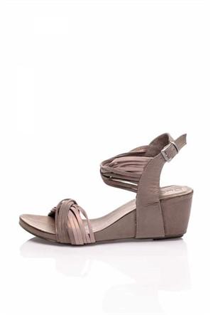 Bueno Bej Simli Topuklu Kadın Sandalet