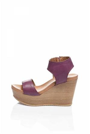 Bueno Menekşe Dolgu Topuk Kadın Ayakkabı