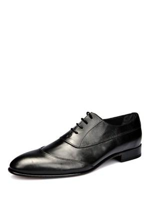 Fabio Lucetti Siyah Kösele Bağcıklı Ayakkabı - Erkek