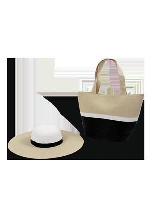 Bay Şapkacı Plaj Çantası Ve Şapka