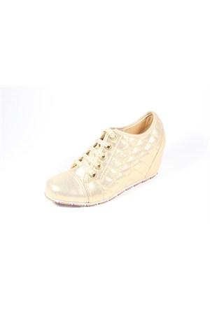 Capriss 11-700 Altın Bayan Gizli Dolgu Topuk Ayakkabı