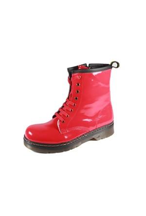 Pink Clover 261-1181 Kırmızı Rugan Kadın Bot