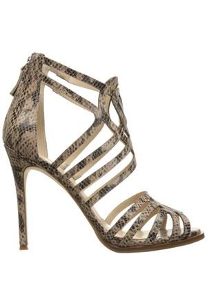 Nine West Nwhartthrob Natürel Multi Gerçek Deri Topuklu Sandalet