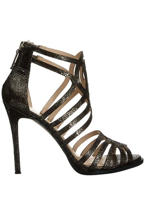 Nine West Nwhartthrob Bronz Gerçek Deri Topuklu Sandalet