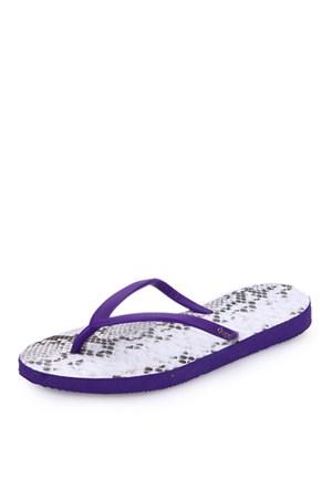 Dupe Mor Plastik Düz Ayakkabı - Kadın