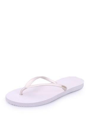 Dupe Beyaz Plastik Düz Ayakkabı - Kadın