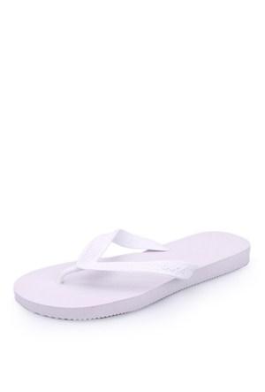Dupe Beyaz Plastik Plaj Terliği - Unisex