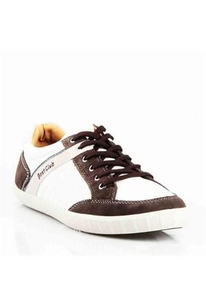 Best Club Erkek Günlük Ayakkabı 32114 Beyaz-Kahve