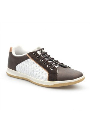 Pedro Camino Sport Erkek Günlük Ayakkabı 114309 Beyaz-Kahve