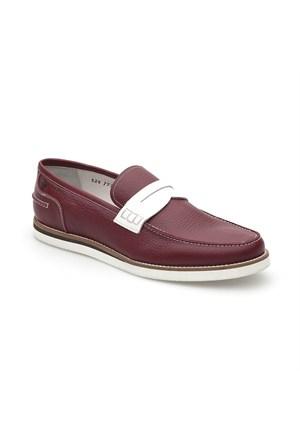 Pedro Camino Weekend Erkek Klasik Ayakkabı 773351 Bordo-Beyaz