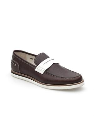 Pedro Camino Weekend Erkek Klasik Ayakkabı 773351 Kahve-Beyaz