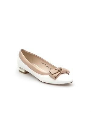 Pedro Camino Kadın Günlük Ayakkabı 81251 Beyaz-Camel