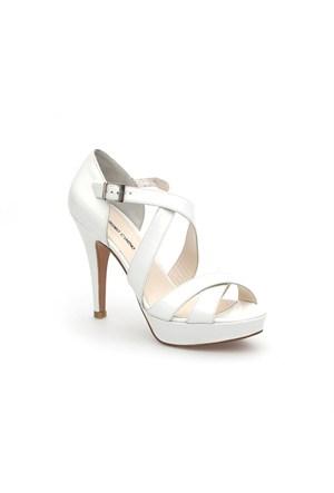 Pedro Camino Kadın Klasik Ayakkabı 82128 Beyaz Rugan