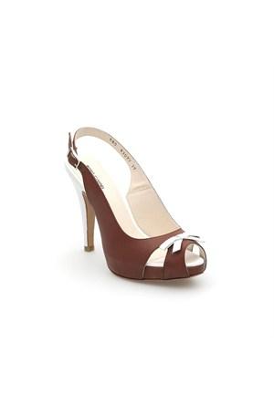 Pedro Camino Kadın Klasik Ayakkabı 83077 Taba-Beyaz