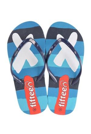 Fifteen Parmak Arası Unisex Plaj Terliği Fg01 Mavi
