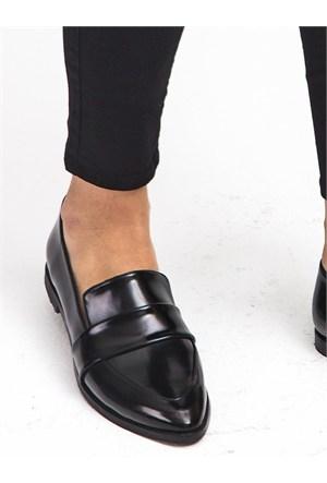 Mecrea Exclusive Molly Siyah Rugan Loafer Ayakkabı