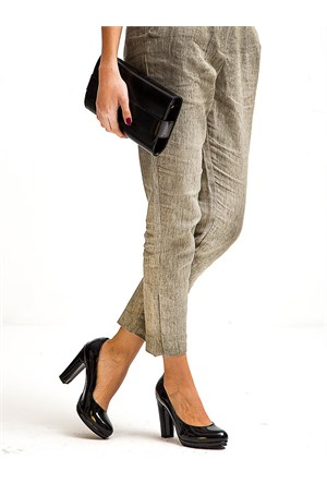 Mecrea Exclusive Alba Siyah Rugan Platform Topuklu Ayakkabı
