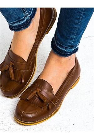 Mecrea Exclusive Jack Taba Eskitme Loafer Ayakkabı