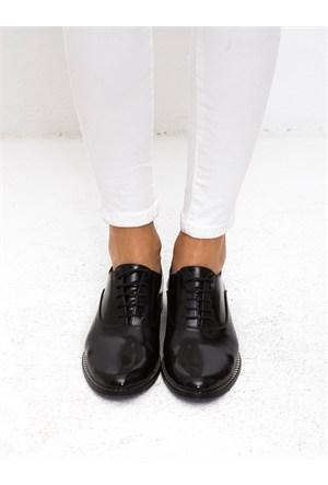 Mecrea Exclusive American Siyah Mat Rugan Loafer Ayakkabı
