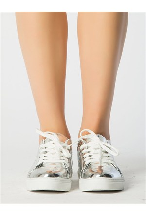 Mecrea Exclusive Gabby Gümüş Ayna Ayakkabı