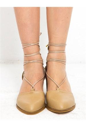 Mecrea Exclusive Moore Ten Dekolte Topuklu Ayakkabı Loafer Ayakkabı