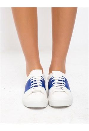 Mecrea Exclusive Popov Beyaz Mavi Kombin Ayakkabı
