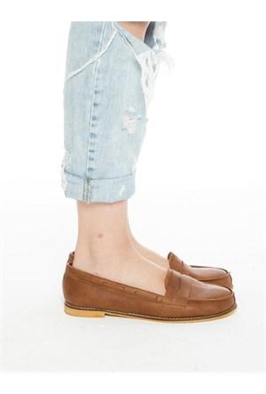 Mecrea Exclusive Disney Taba Loafer Ayakkabı