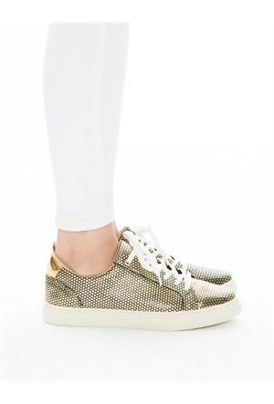 Mecrea Exclusive Gabby Petek Altın Ayakkabı