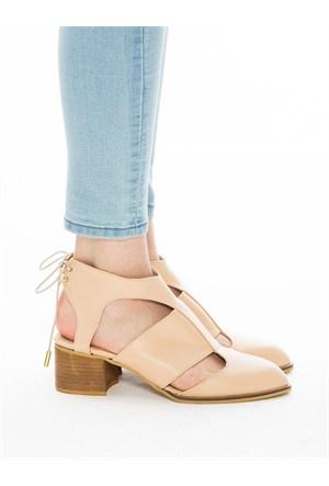Mecrea Exclusive Morain Ten Rengi Topuklu Ayakkabı