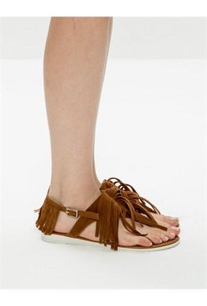 Mecrea Exclusive Medly Indian Taba Püsküllü Sandalet
