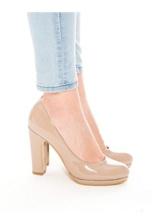 Mecrea Exclusive Alba Vizon Rugan Platform Topuklu Ayakkabı