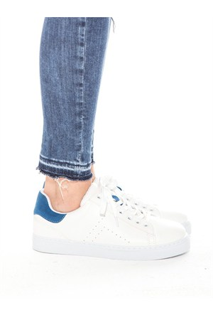 Mecrea Exclusive Gabby Beyaz Mavi Kombin Ayakkabı