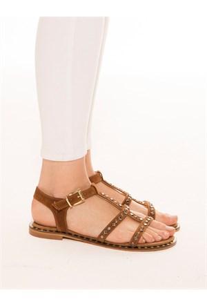 Mecrea Exclusive Aisey Taba Taşlı Sandalet