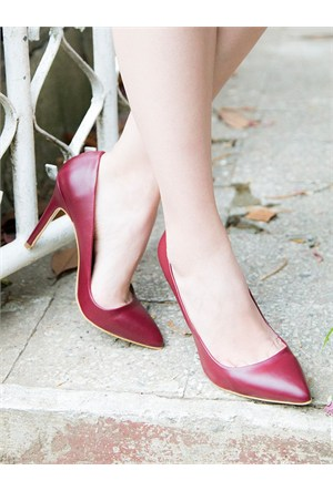 Mecrea Exclusive Madam Bordo Dekolte Stiletto