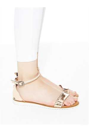 Mecrea Exclusive Zoja Rose Gold Dekolte Sandalet