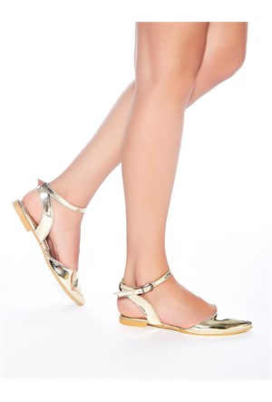 Mecrea Exclusive Ciara Altın Ayna Sandalet