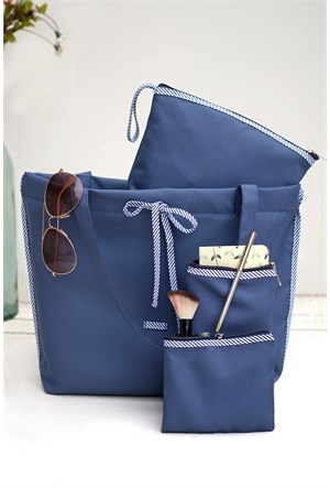 İkikız Mavi Çanta Seti