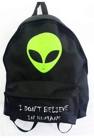 Köstebek Alien - I Don't Believe In Humans Sırt Çantası Kbsç006